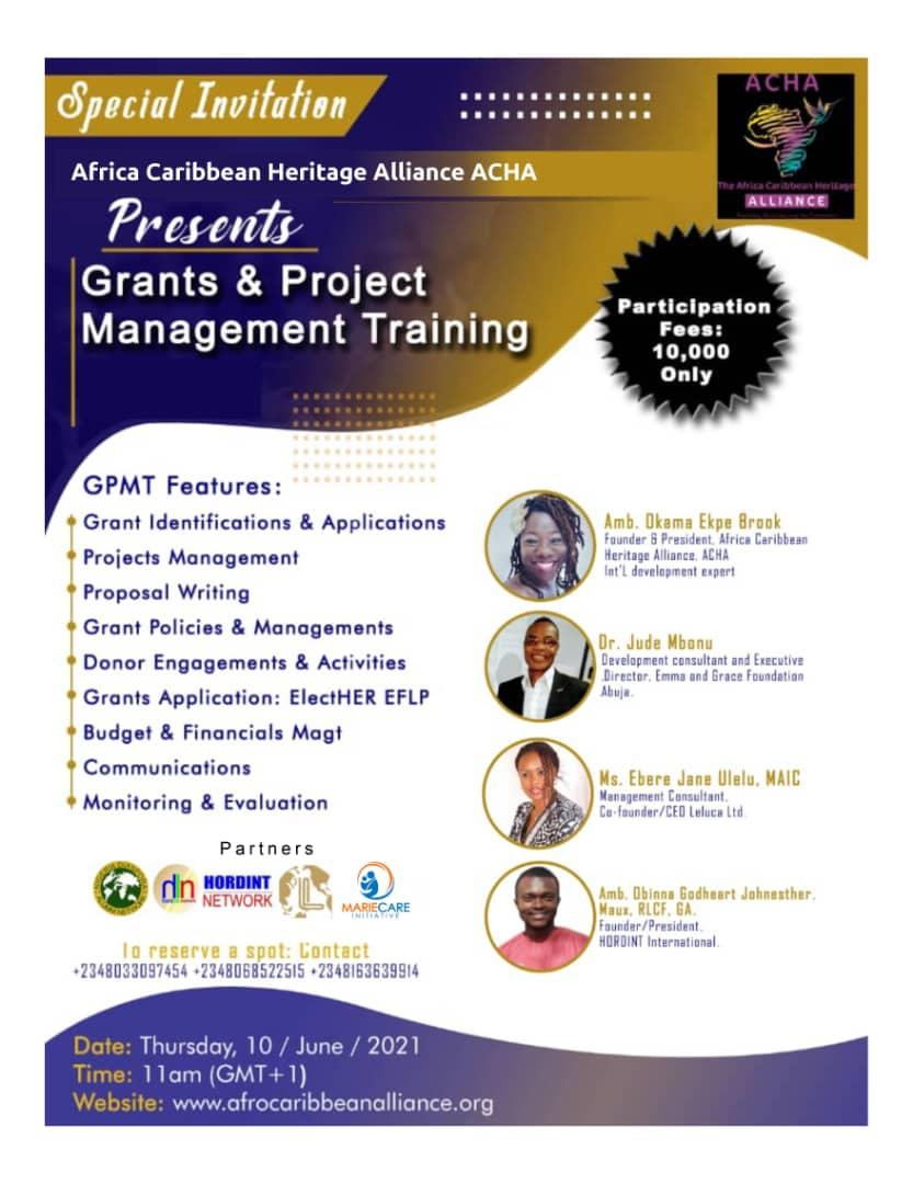 ACHA Training Series 101: Project Management & Grants Writ